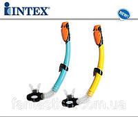 Трубка для плавания (дайвинга) INTEX 55923  на листе, 17-48см IKD /6-4