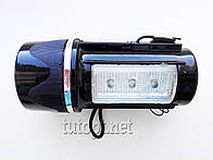 Фонарь аккумуляторный с магнитом 15628, 3 LED + 3 LED боковая подсветка + кабель зарядки