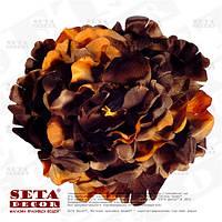 Брошь, заколка готическая Роза большая коричнево-оранжевая