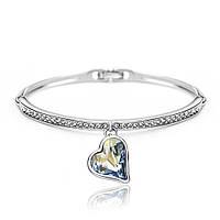 Женский браслет с кристаллами Swarovski Тондо 161676 голубой