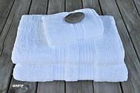 Махровое полотенце 100х180 бамбук/хлопок London белое CASUAL AVENUE, фото 1