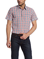 Мужская рубашка LC Waikiki / Лс Вайкики с коротким рукавом белого цвета в красную и синюю клетку, фото 1