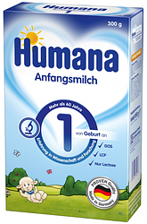 Сухая молочная смесь Humana 1 с пребиотиками, LC PUFA и нуклеотидами, 300 г