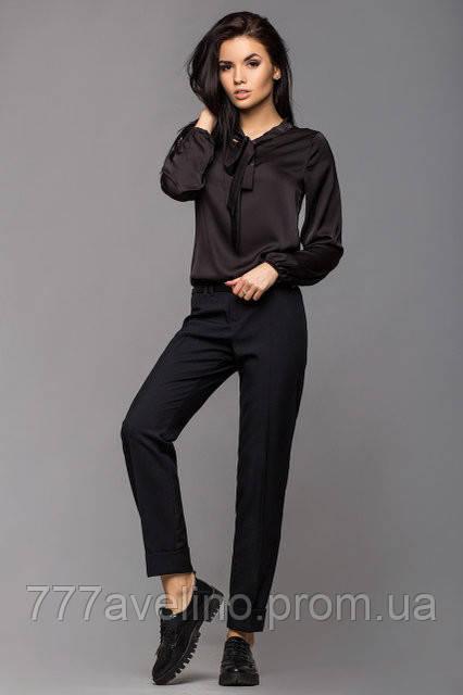 Брюки женские классические стильные черные