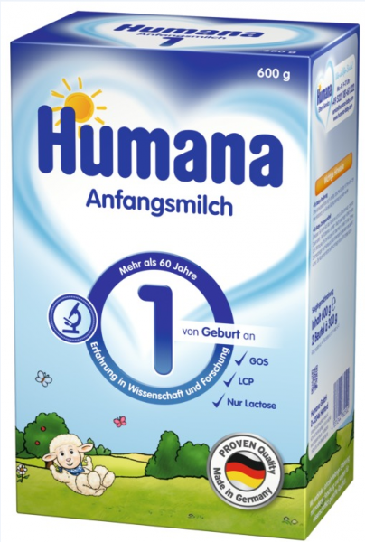 Сухая молочная смесь Humana Хумана 1 с пребиотиками, LC PUFA и нуклеотидами, 600 г