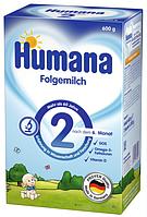 Сухая молочная смесь Humana Хумана 2 c пребиотиками, 600 г