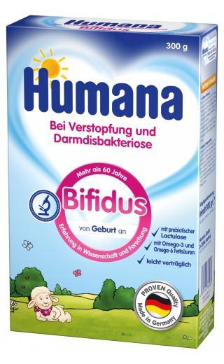 Сухая молочная смесь Humana Bifidus c пребиотиками, 300 г