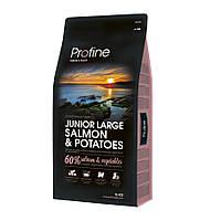 Profine Junior Large Salmon and Potatoes корм для щенков крупных пород с лососем и картофелем, 15кг