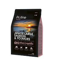Profine Junior Large Salmon and Potatoes корм для щенков крупных пород с лососем и картофелем, 3кг