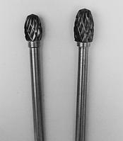 "Борфреза, Тип ""Е"", Овал, диаметр 6 мм, хвостовик 3мм"