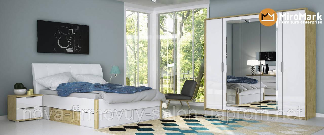 Спальня Флоренція глянець білий-Сан маріно
