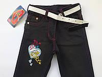 Детские джинсы-брюки на девочку 3-6 лет весна в розницу, фото 1