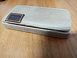 Чехол-флип Apple iPhone 4 4s коричневый замшевый Viva, фото 7