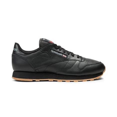 "Мужские кроссовки  Reebok Classic Leather ""Black/Gum"""