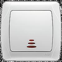 Выключатель с подсветкой белый Viko Carmen