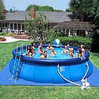 Удобный надувной бассейн Intex серии Easy Set Pool -457x122 см