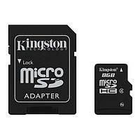 Карта памяти microSDHC 8Gb Kingston Class 4 (+ adapter SD)