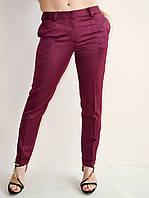 Красивые брюки женские бордовые, высокое качество