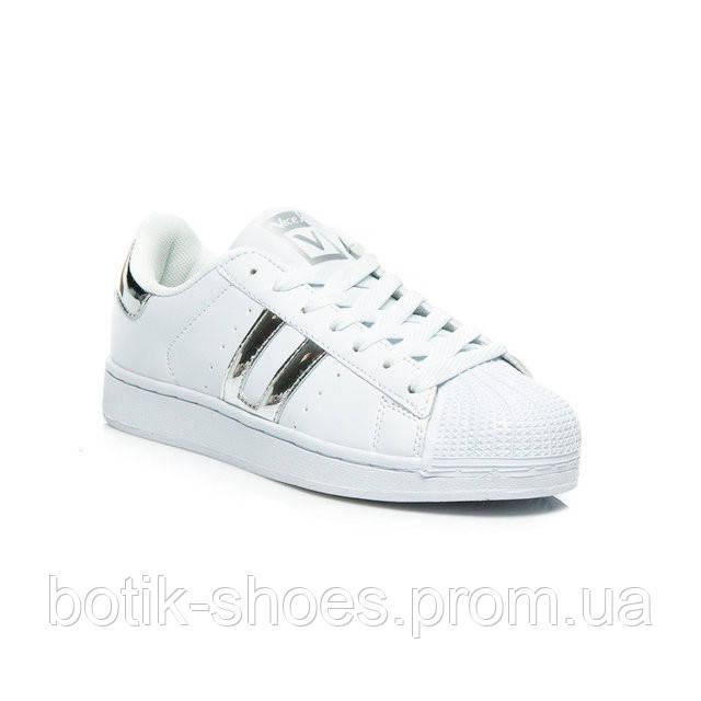 40c616c7 Женские белые кроссовки, кеды Adidas Superstar, реплика Vices -  интернет-магазин обуви