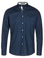 Мужская темно синяя рубашка Hallaton от Tailored & Originals (Дания) в размере M