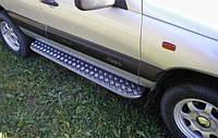 Боковые пороги (площадка-крашеный) Niva Chevrolet 2005-16