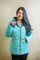 Стильная куртка женская Марта  46, 48, 50, 52 бирюзовая
