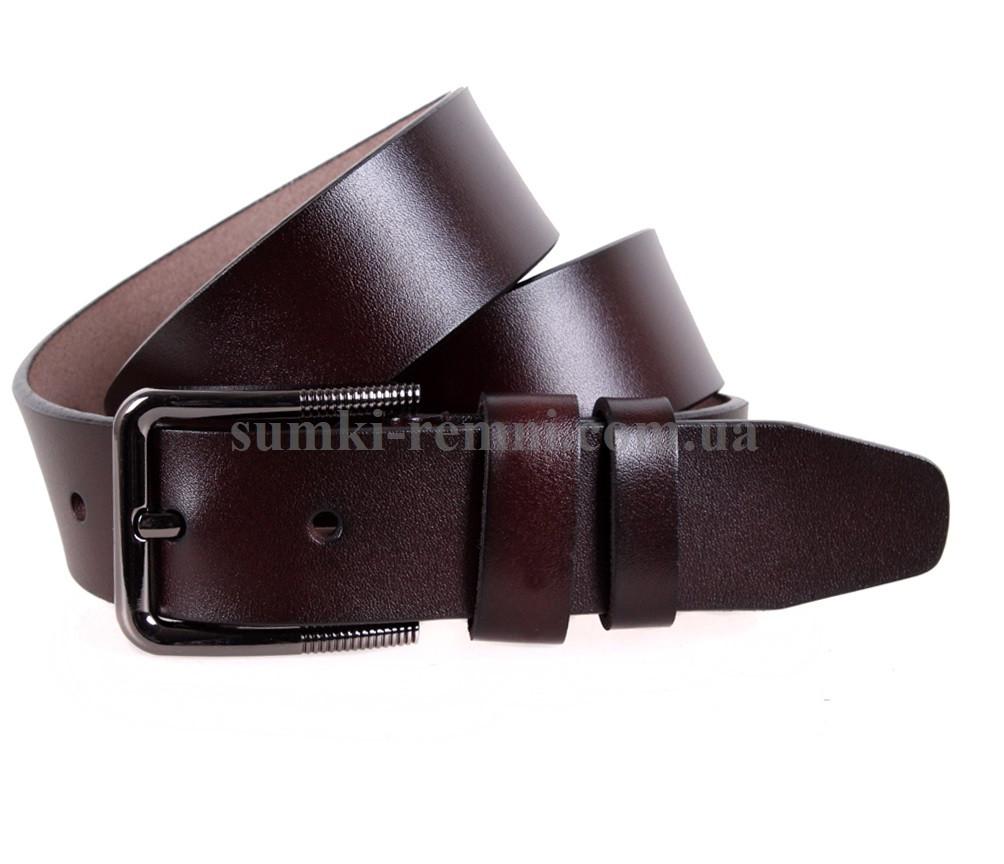 Мужской ремень из натуральной кожи под джинсы MGD101-30 коричневый