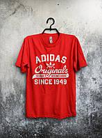 Мужская красная футболка adidas Originals