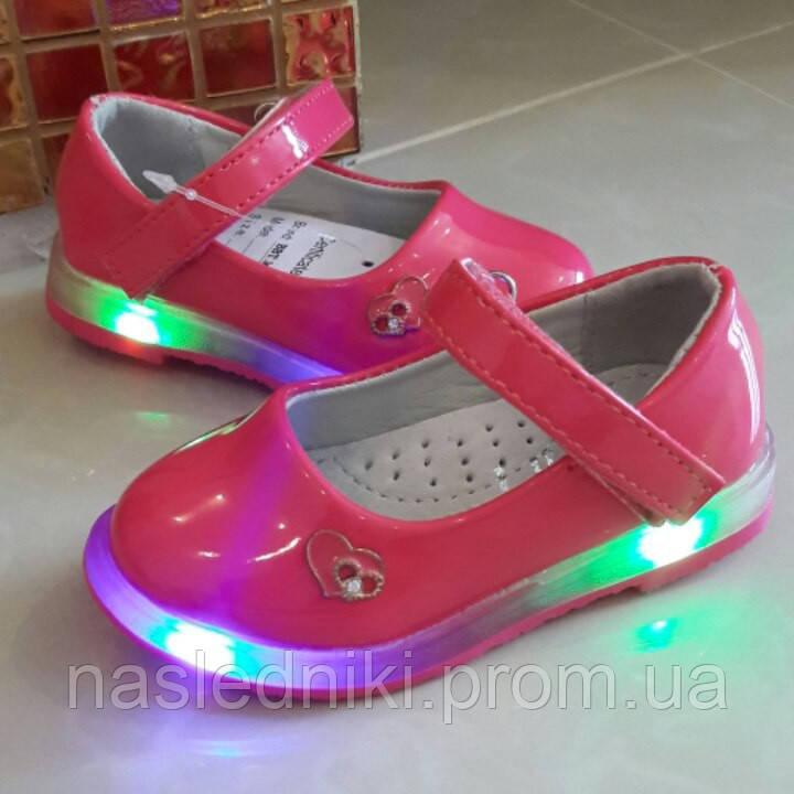 Лаковые туфельки с подсветкой для девочки.21 72fbab1a5bd6d