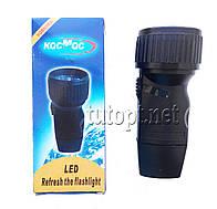 """Фонарик """"Космос"""" 5 LED со встроенным аккумулятором, прямая зарядка от сети """"1 сорт"""""""