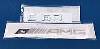 Mercedes-Benz E-Class W212  Значек Эмблема на багажник надпись E63  S AMG Новая Оригинальная