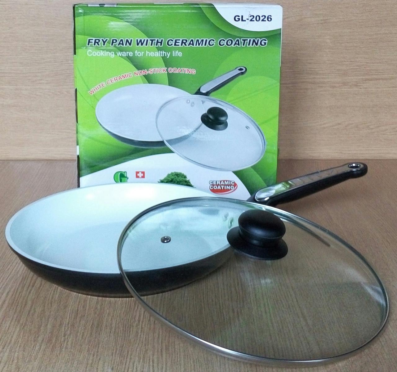 Сковорода з керамічним покриттям 26 см Green Life GL-2026