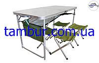 Складной комплект для пикника стол и 4 стула (раскладная мебель), фото 1