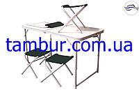 Раскладной стол для пикника стол и 4 стула ( раскладная мебель ), фото 1