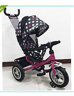 Детский трехколёсный велосипед Turbo Trike с надувными колёсами M 3113-6A-D
