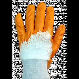 Перчатки нитрил (оранжевые неполная заливка)