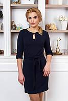 Стильное женское темно-синее  платье Маранта    44-50  размеры