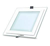 LED светильник 24W LedEX врезной квадрат + стекло 4000K