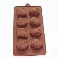Форма силиконовая для конфет, шоколада, льда Детская Транспорт
