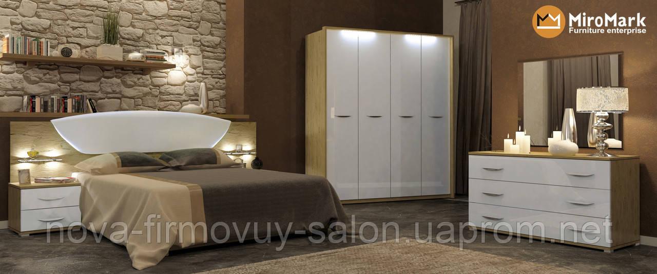 Спальня Мілленіум глянець білий-Сан маріно