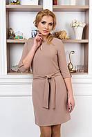 Стильное женское  бежевое   платье Маранта    44-50  размеры