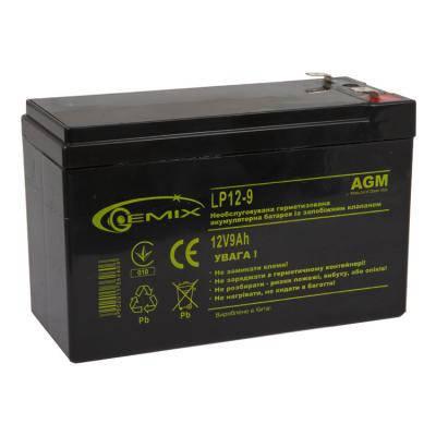 Батарея к ИБП 12В 9 Ач GEMIX (LP12-9), фото 2