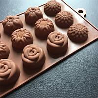 Форма силиконовая Подсолнухи для конфет, мармелада, декора, шоколада