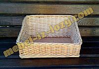 Плетеный лоток-короб наклонный 30*30 с высотой 15*8 см
