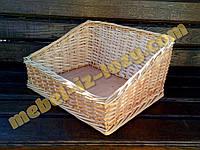 Лоток-короб плетеный 40х40 с высотой борта 20х10