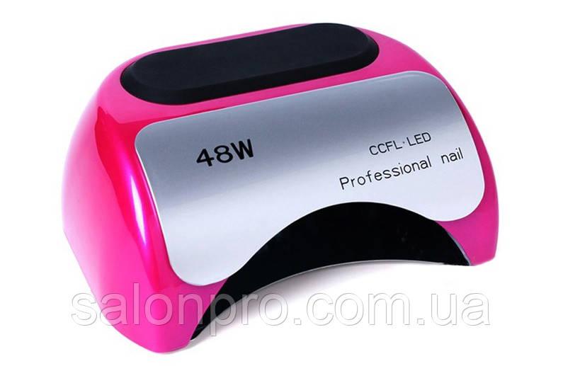 LED+CCFL лампа для гель-лаков и геля 48 Вт, розовая