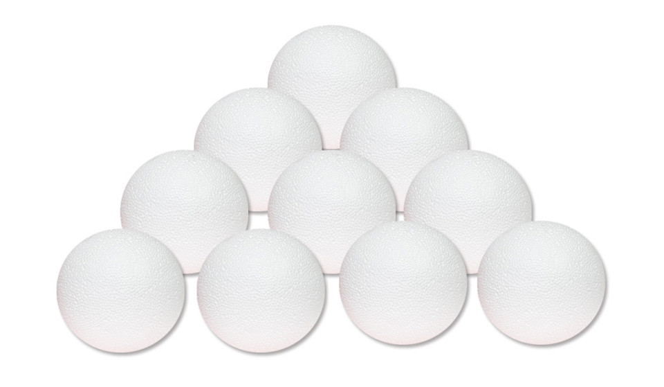 Набор пенопластовых шаров d:7 см 10шт