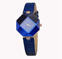 Часы женские наручные синие Jewel gem cut
