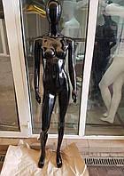 Манекен гипсовый черный лак
