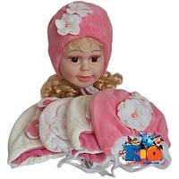 Детская шапка арт.100 , велюровая (весна-осень), для девочки (р-р 36-40)